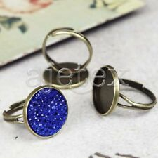 5pcs Retro Vintage Ring Mountings Antique Brass Round 21mm/20mm Engagement