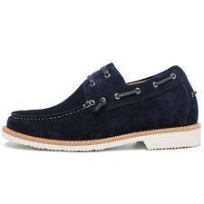 Casual Men Elevator Shoes Height Increasing Boat Shoes High HeelLift Shoes2.36''