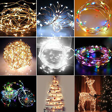 6/10/15/20m Solar Powered Warm White Copper Wire Outdoor String Fairy Light PY#S