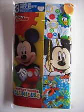 Mickey Mouse Clubhouse Underwear Underpant Boys 3 Briefs Select 2/3Toddler NIP