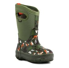 Bogs Kids Classic Woodland Boots Green Toddler Boys Girls size 7, 8, 9 NWT