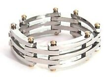Folding Ring PVD Gold Pins Hypoallergenic Stainless Surgical Steel