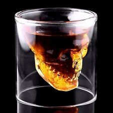 Skull Head Shot Glass Vodka Crystal Cup Whiskey Drinking Wine Beer Bar Party Hot