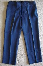 BRAND NEW BANANA REPUBLIC WOMEN'S CUFFED FLARE CROP PANTS NAVY SIZES 6-10