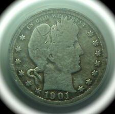 1901-S Barber Head Silver Quarter - King of Series - ANACS Details - No Reserve!