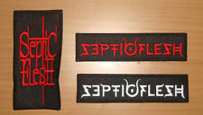 SEPTIC FLESH - LOGO Embroidered PATCH Rotting Christ Moonspell Amorphis