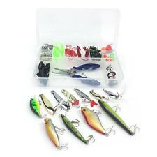 Multifunctional Fishing Floating Lures  Accessories Kit Crankbait VIB Set M4G9