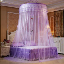 Luxury Round Mosquito Dome Bed Net Princess Pastoral Lace Curtain Canopy Netting