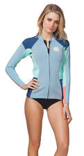 1.5mm Women's Rip Curl DAWN PATROL Front Zip Wetsuit Jacket