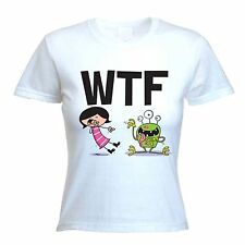 WTF WOMEN'S T-SHIRT - What The F**k Text Facebook Twitter - Sizes S-XL