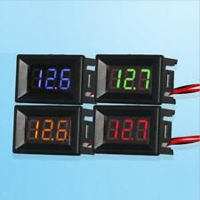 DC 2 Wire 0.36'' LED Digital Display Panel Volt Meter Voltmeter Motor 4 Colors