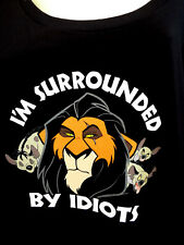 SURROUNDED BY IDIOTS DISNEY THE LION KING SCAR T-SHIRT WOMEN'S PLUS SIZE 5-6)