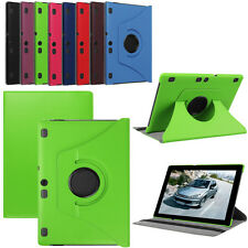 """For 10.1"""" Lenovo Tab 2 A10-70F Tablet 360° Flip Folio Leather Case Cover Stand N"""