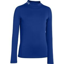 NWT Under Armour COLDGEAR long-sleeve ROYAL compression MOCK NECK boys SHIRT M