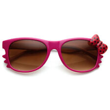 CLEARANCE Polka-Dot Bow Two-Tone Color Kitty-Cat Horn Rimmed Sunglasses