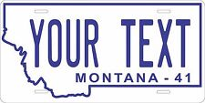Montana 1941 License Plate Personalized Custom Auto Bike Motorcycle Moped tag