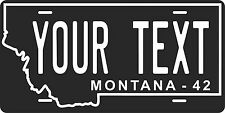 Montana 1942 License Plate Personalized Custom Auto Bike Motorcycle Moped tag