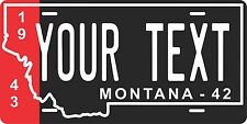 Montana 1943 License Plate Personalized Custom Auto Bike Motorcycle Moped tag