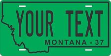 Montana 1937 License Plate Personalized Custom Auto Bike Motorcycle Moped tag