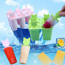 6Cell Juice Popsicle Maker Frozen Ice Cream Pop Maker Lolly Mould Tray Mold DIY