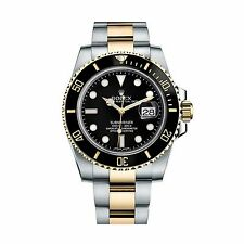 Rolex NEW Submariner 116613 Steel & Yellow Gold Ceramic Black Box Papers Watch