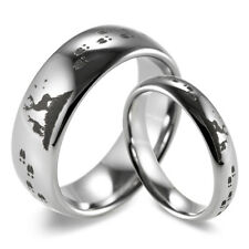 His & Hers Dome Tungsten Carbide lasered Deer Hunting & Tracks design Ring -1pcs
