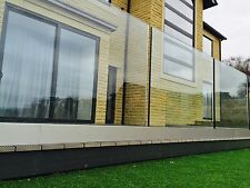 Frameless Base Channel Glass Balustrade System. Glazed Infinity Balcony Railings