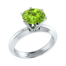 1.90 ct Solitaire Green Peridot Solid Gold Wedding Engagement Ring