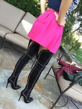 Vip Suede Thigh High Over the Knee Studs Spikes Pointy Toe Stiletto Heel Boots