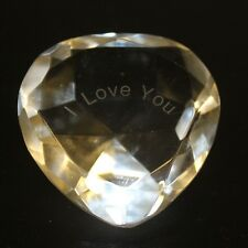 Engraved I love You Crystal Hearts Gift Boxed