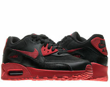 Nike Air Max 90 (GS) Black/Gym Red Big Kids Running Shoes 307793-095