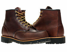 Red Wing Heritage 8146 6-Inch Brown Classic Moc Toe Lug Sole Boots 08146