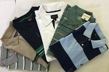 Men's New Polo T-Shirt Short Sleeve Striped 100% Cotton- Choice Size & Color