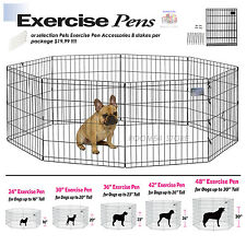 "Exercise Pens Training Kennel Pet Playpen Small Large Dog 16""-30"" or 8 pcs Stake"