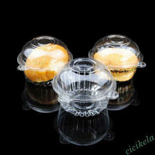 10/50/100PCS Plastic Clear Cupcake Boxes Holder Muffin Case Pods Cup Dome Cases