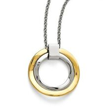 Stainless Steel Two Circle Pendant Necklaces - Cable Chain