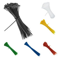 100pcs Easy-use Self-locking Nylon Cable Tie Wire Plastic Zip Ties 150-350mm