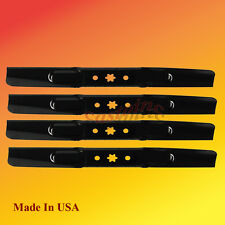 (4) BLADES for MTD 942-0616, 742-04308, 742-0656, 942-04308, 112-0315, 14058 USA
