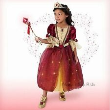 Disney Store Deluxe Beauty and the Beast Belle Costume Gown Dress W/Tiara & Wand