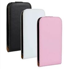 Genuine leather Flip Case Cover Protector Skin F Samsung Galaxy CORE i8260 i8262