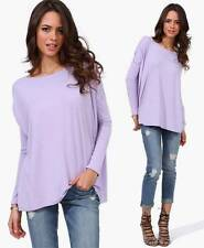 Authentic Lavender Piko Purple Long Sleeve T-Shirt Bamboo Boat Neck Tee Top NWT