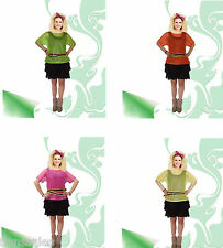 Womens/ Ladies 1980s Neon Mesh Top Ladies Fancy Dress Costume Adults Outfit