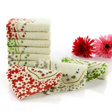 Kids Square Towel Cute Floral Face Hand Washcloth Handkerchief Infant Wipe Cloth