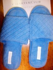 Quilted Slippers Terry Open Toe Scuffs Charter Club Color Choices size Small New