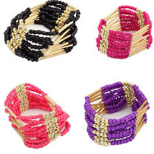 Womens Bohemian Multilayer New Bracelet Beaded Bangle Bracelet Fashion Jewelry