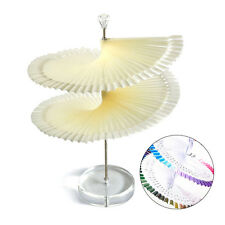 120 Pcs False Nail Art Board Tips Stick Polish Display Fan Practice Stand Tool