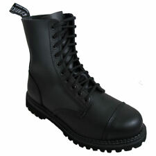 Mens Grinders Black Stag Combat 10 Hole Boots 8 - 12 UK