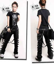 #95 VISUAL KEI PUNK rave gothic STYLE Japan Kera Pants Trousers