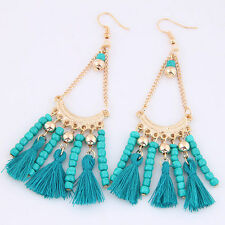 Fashion Women Metal Bohemia Earrings Ethnic Dangle Tassel Earrings 5 Models