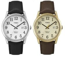 Timex Classic Easy Reader Indiglo Leather Strap Gents Watch